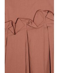 Marni Pink Pleated Cotton Skirt