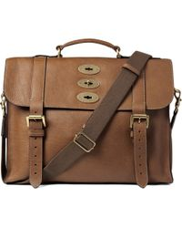Mulberry - Brown Ted Convertible Leather Messenger Bag for Men - Lyst