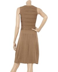 Pringle of Scotland Natural Ribbed Knitted Tank Dress