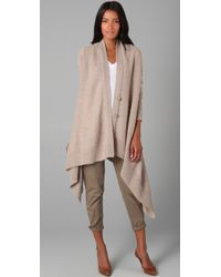 DKNY | Natural V Neck Cozy Cardigan | Lyst