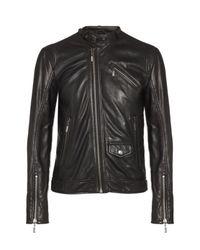 Just Cavalli | Black Leather Biker Jacket for Men | Lyst