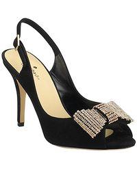kate spade new york | Crown - Black Suede Slingback Embellished Pump | Lyst