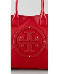 Tory Burch - Red Stacked Logo Summer Tote - Lyst