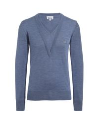 Vivienne Westwood | Blue Double V-neck Orb Jumper for Men | Lyst