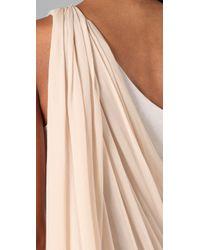 Alice + Olivia - White Draped One Shoulder Dress - Lyst