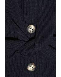 A.P.C. Blue Belted Merino Wool Cardigan