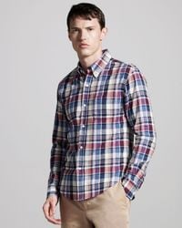 Band of Outsiders | Blue Button-down Madras Shirt for Men | Lyst