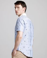 Band of Outsiders | Blue Flag-stitch Shirt for Men | Lyst
