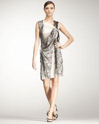 Bottega Veneta   Black Sleeveless Lace Dress   Lyst