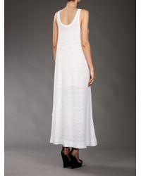 By Malene Birger White Linen Maxi Dress