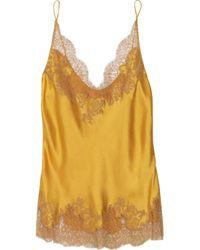 Carine Gilson Yellow Thème Céres Silk-satin Camisole