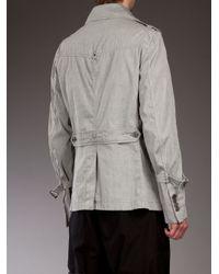 Chatcwin Gray Apeleg Pea Coat for men