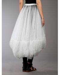 Comme des Garçons White Sheer Tulle Skirt