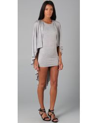 Holy Tee | Gray Gotham Dress with Cape Overlay | Lyst