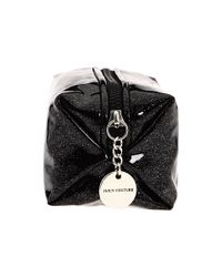 Juicy Couture | Black Glitter Small Cosmetic Bag | Lyst