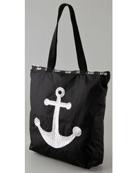LeSportsac - Black Sequin Anchor Medium Shopper - Lyst