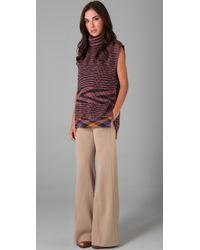 M Missoni - Natural Double Knit Wide Leg Pants - Lyst
