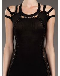 Mark Fast Black Panelled Mini Dress