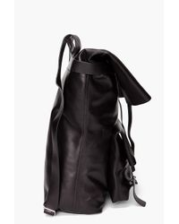 3.1 Phillip Lim - Black Leather Backpack for Men - Lyst