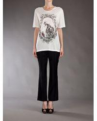 Alexander McQueen White Skeleton Print T-shirt