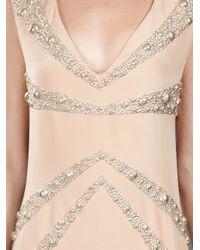 Liska Natural Embellished Dress