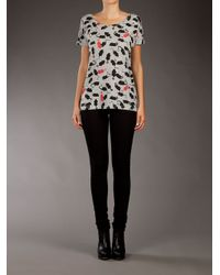 Marc By Marc Jacobs Gray Mice T-shirt