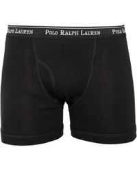 Polo Ralph Lauren - Black Three Pack Cotton Boxer Shorts for Men - Lyst