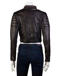 Shakuhachi Black Leather Paneled Biker Jacket