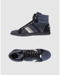 Frankie Morello | Blue High Top Sneaker for Men | Lyst