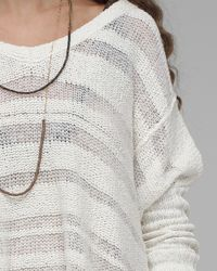 Free People - White Spending Time Pullover - Lyst