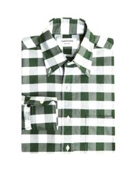 Thom Browne | Green Cotton Check Shirt for Men | Lyst