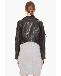 DIESEL Black L-coyote Leather Jacket