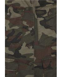 Rag & Bone Green Leigh Camouflage Cotton Jacket