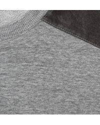 A.P.C. Gray Shoulder Panel Sweater for men