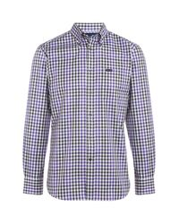 Façonnable | Purple Button-down Gingham Shirt for Men | Lyst