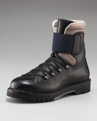 Lanvin | Black Mountain Boot for Men | Lyst