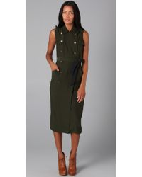 Gryphon | Green Silk Trench Dress | Lyst