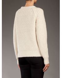 Acne Studios Natural Ruth New Chunky Knit Sweater