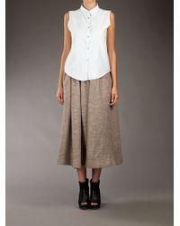 Acne Studios Natural Romantic Wool Midi Skirt