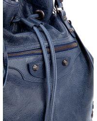 Balenciaga Blue Drawstring Bag