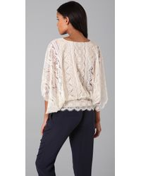 Beyond Vintage - White Dolmansleeve Lace Top Store Top Seller - Lyst