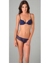 Calvin Klein | Blue Envy Lace Demi Bra | Lyst