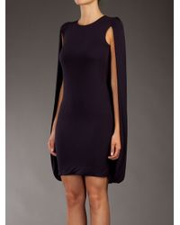 McQ Purple Jersey Cape Dress