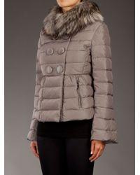 Moncler Brown Kellyfur Padded Coat