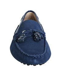 Tod's | Cobalt Blue Suede Haven Nappine Studded Tassel Loafers | Lyst