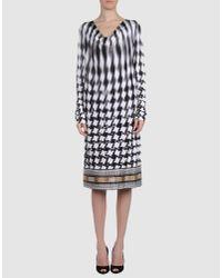 Class Roberto Cavalli | Black 3/4 Length Dress | Lyst