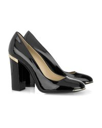 Stella McCartney   Black Faux Patent-leather Pumps   Lyst