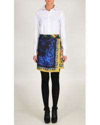 Tibi Black Baroque Scarf Wrap Skirt