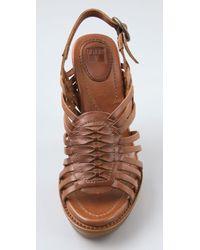 Frye | Brown Joy Huarache Sandals | Lyst