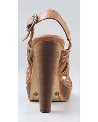 Frye - Brown Joy Huarache Sandals - Lyst